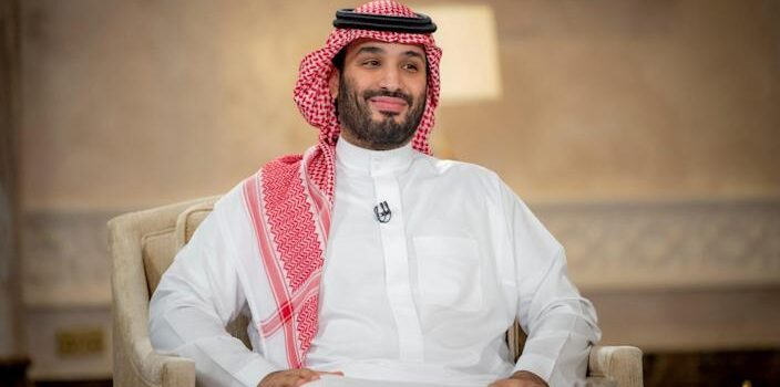 """Prince Salman said he wanted Iran and Saudi Arabia to have a """"good and distinguished relationship"""" in a rare televised interview - COURTESY OF SAUDI ROYAL COURT/VIA REUTERS"""