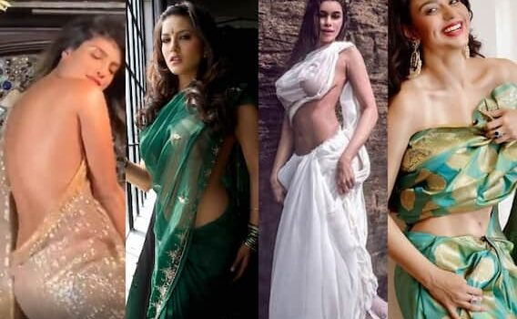 In pics: Heroines thrashed fans wearing sarees without blouses, from Sunny Leoli to Aishwarya-Priyanka Chopra